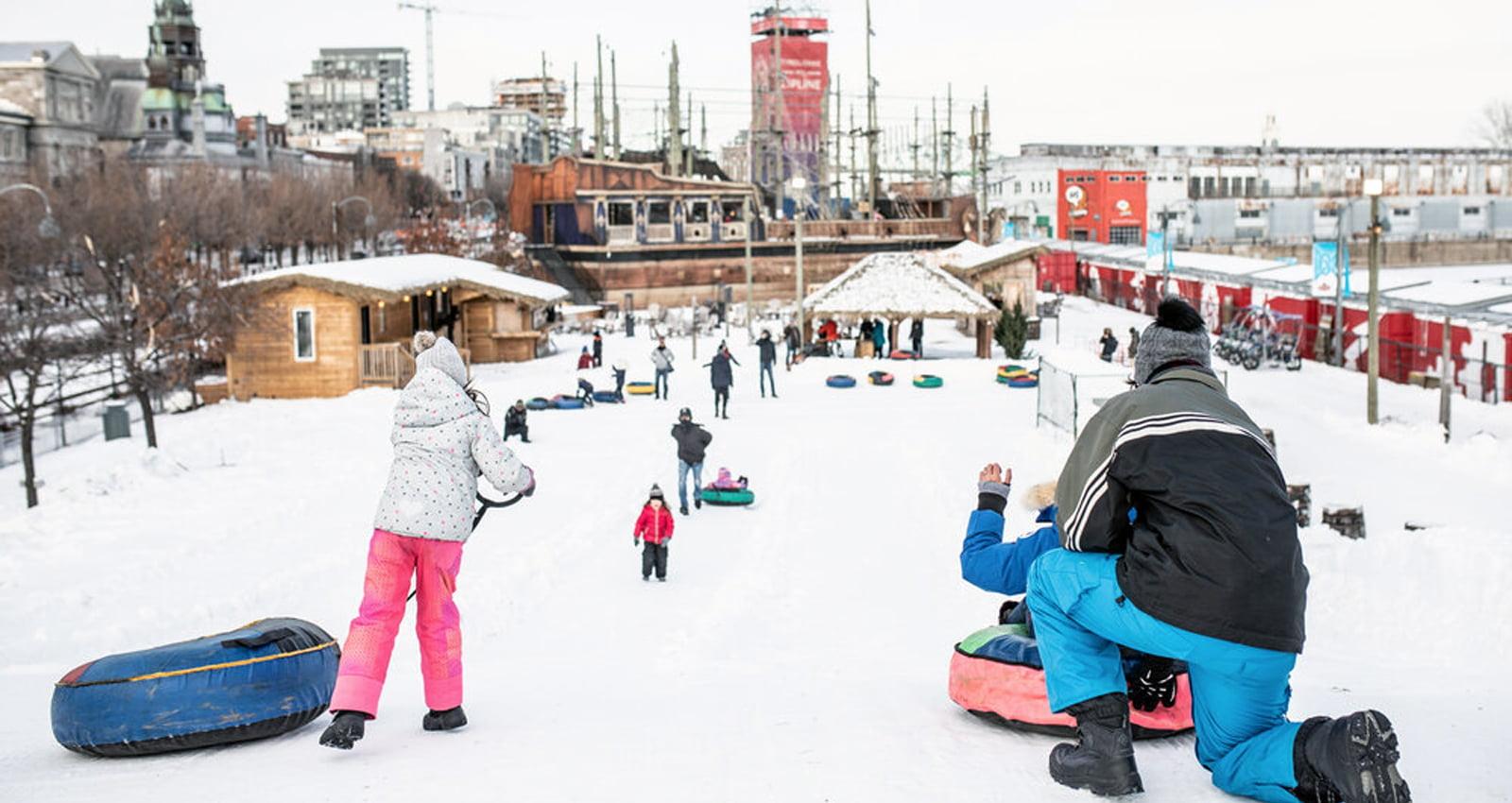 Montréal en Fêtes - Merry Montréal | Aerial Park - Voiles en Voiles