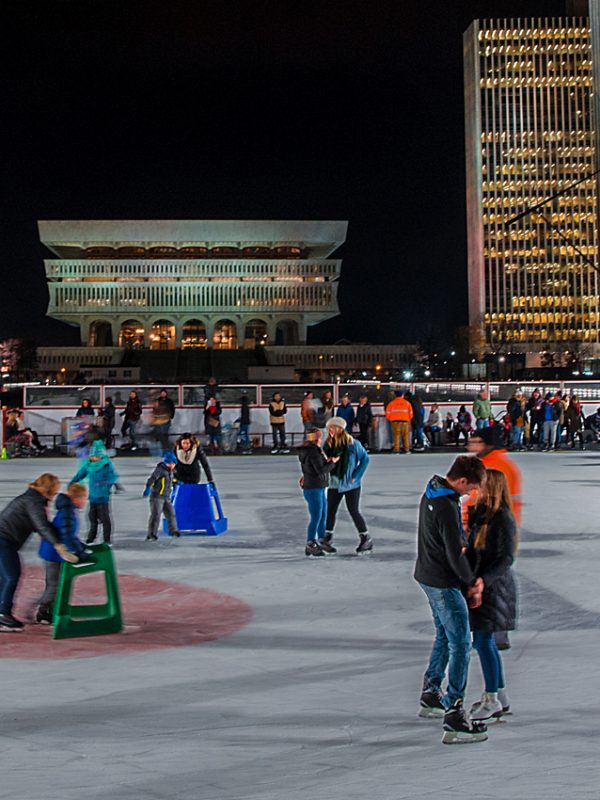 Empire Plaza Ice Rink | Photo Courtesy of New York State