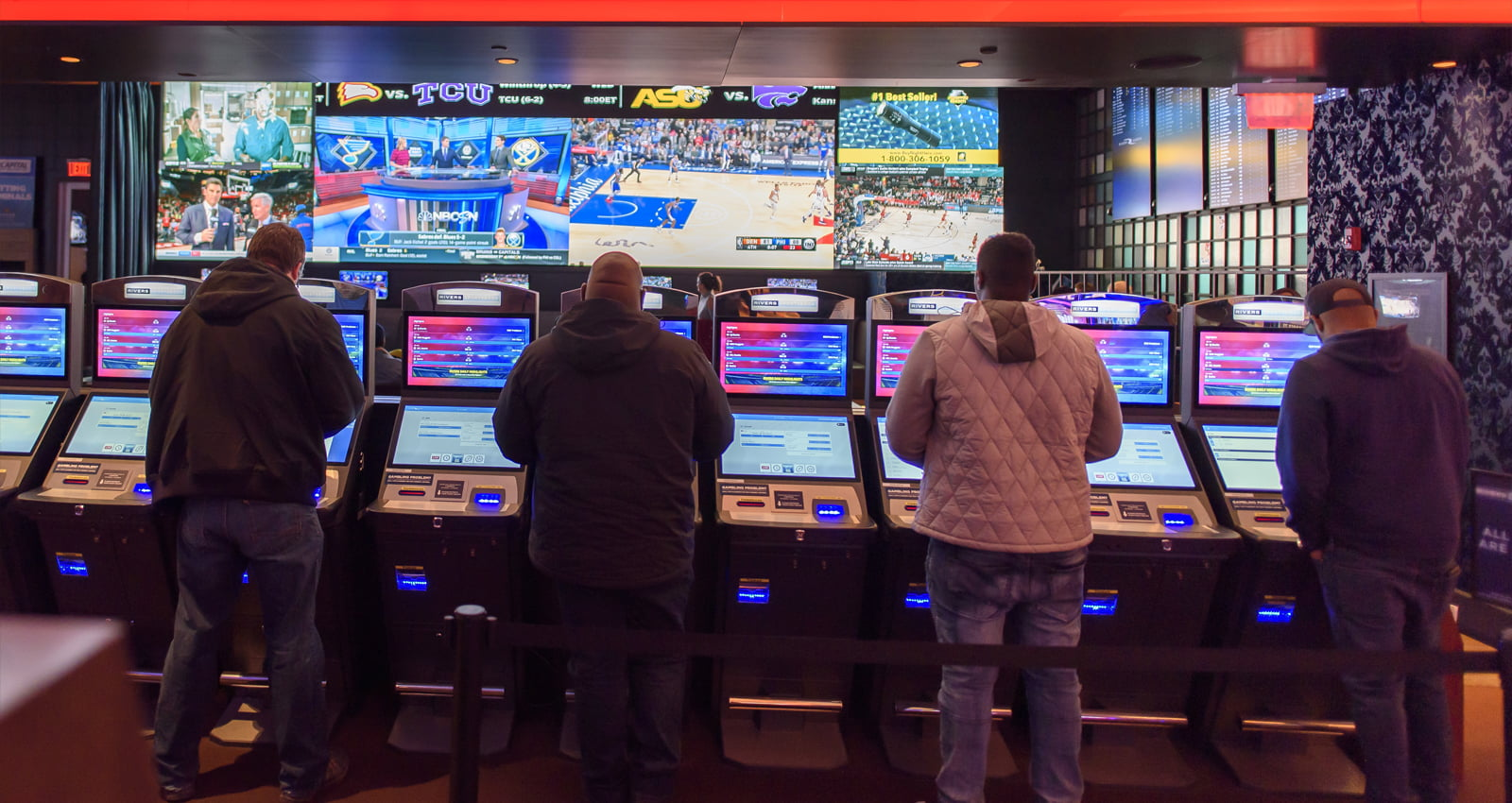Rivers Spoortsbook sports betting at Rivers Casino & Resort. | Photo Courtesy of Andrew Shinn