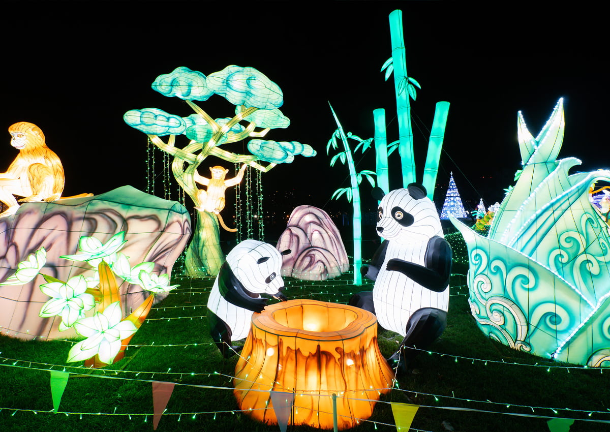 LuminoCity Festival's 'The Biefengxia Panda Reserve' at Randall's Island Park in New York City. | Photo Courtesy of LuminoCity Festival