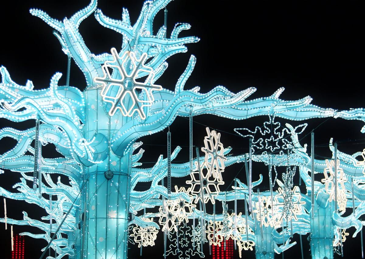 LuminoCity Festival's The Frozen Forest at Randall's Island Park in New York City. | Photo COurtesy of LuminoCity Festival