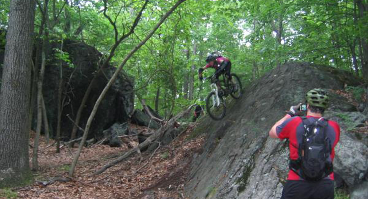 Biking at Blue Mountain Reserve near Holiday Inn Express and Suites Peekskill Suite