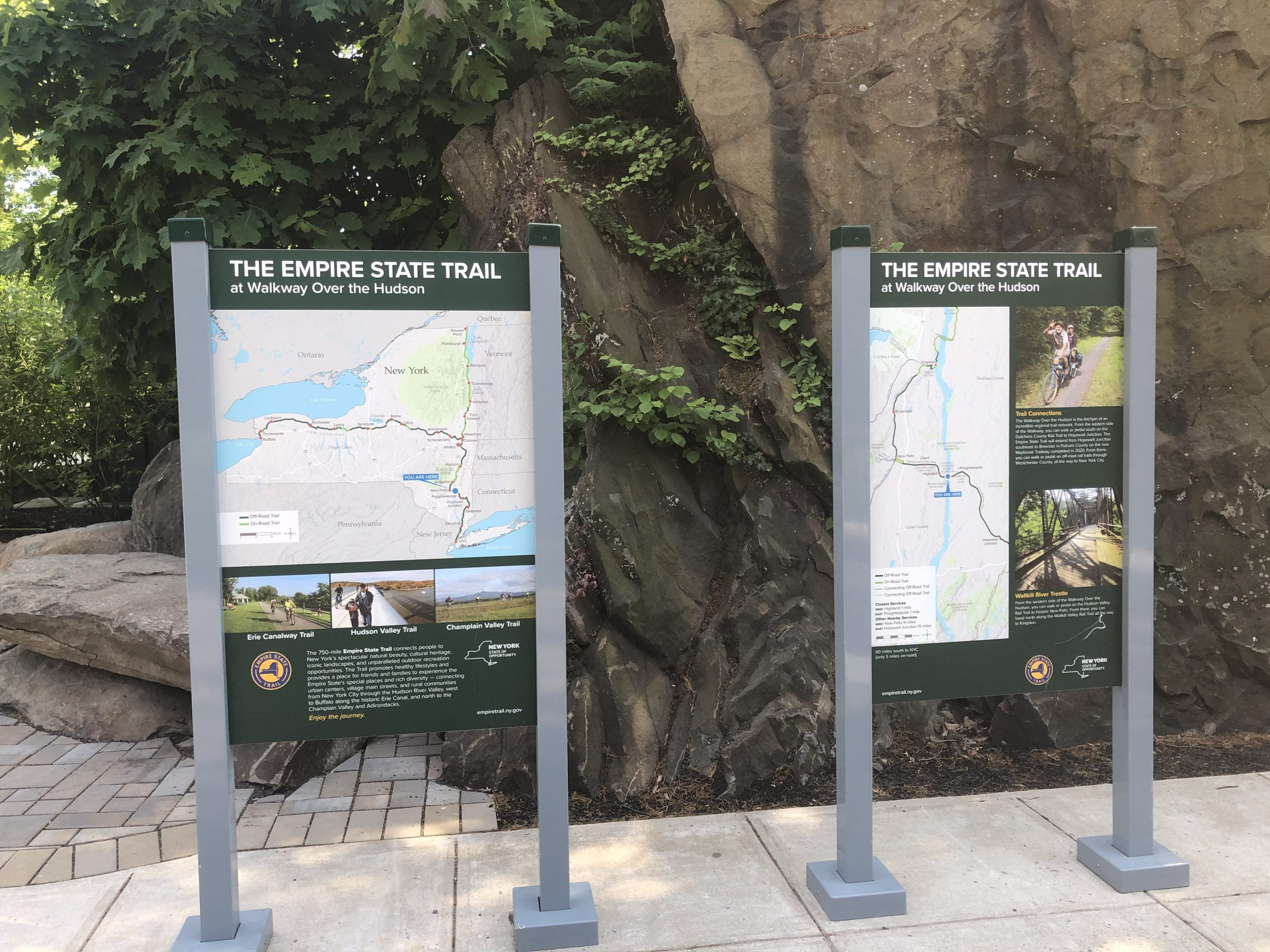 Empire State Trail signs