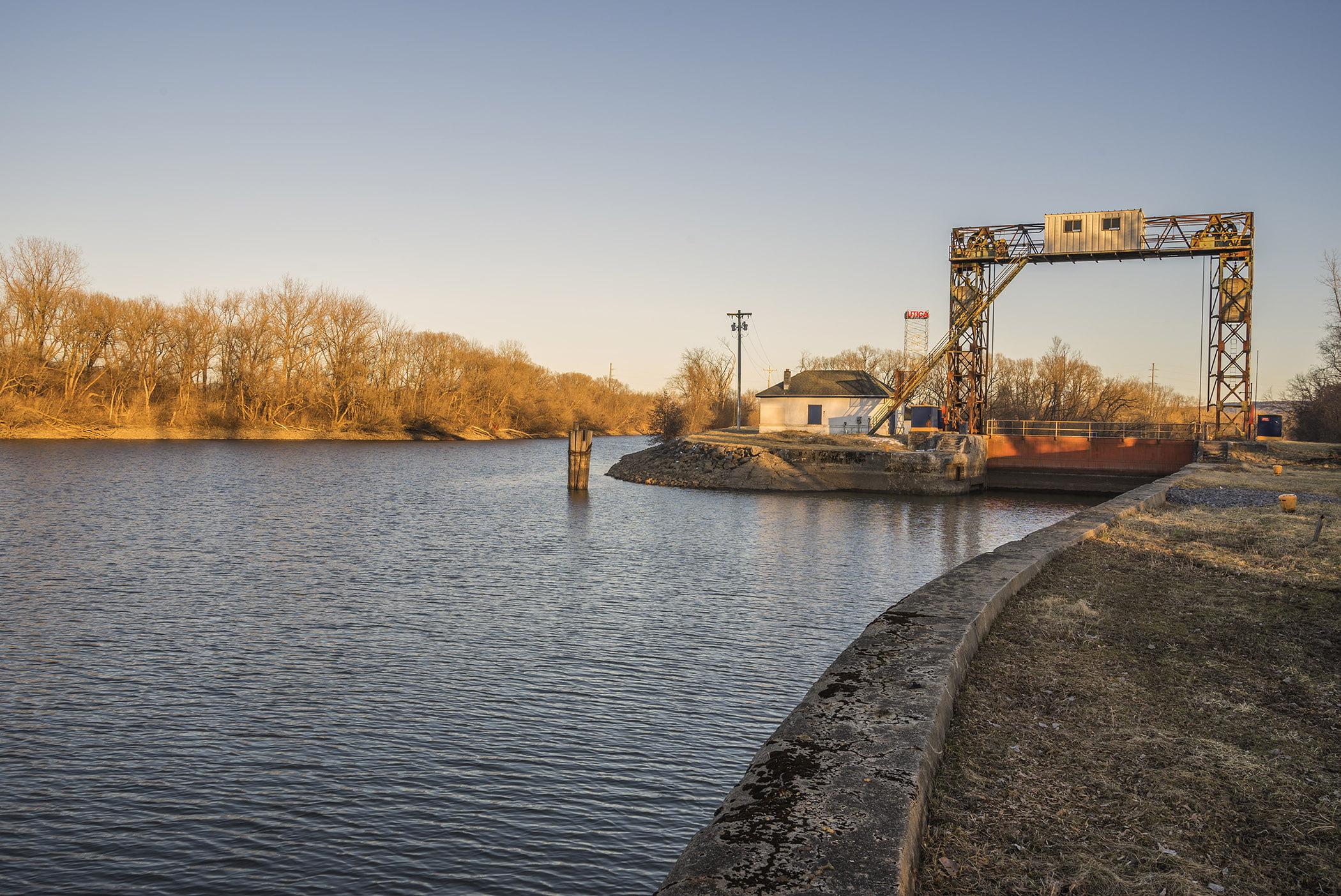 Utica Harbor Lock inside Utica Marsh Wildlife Management Area