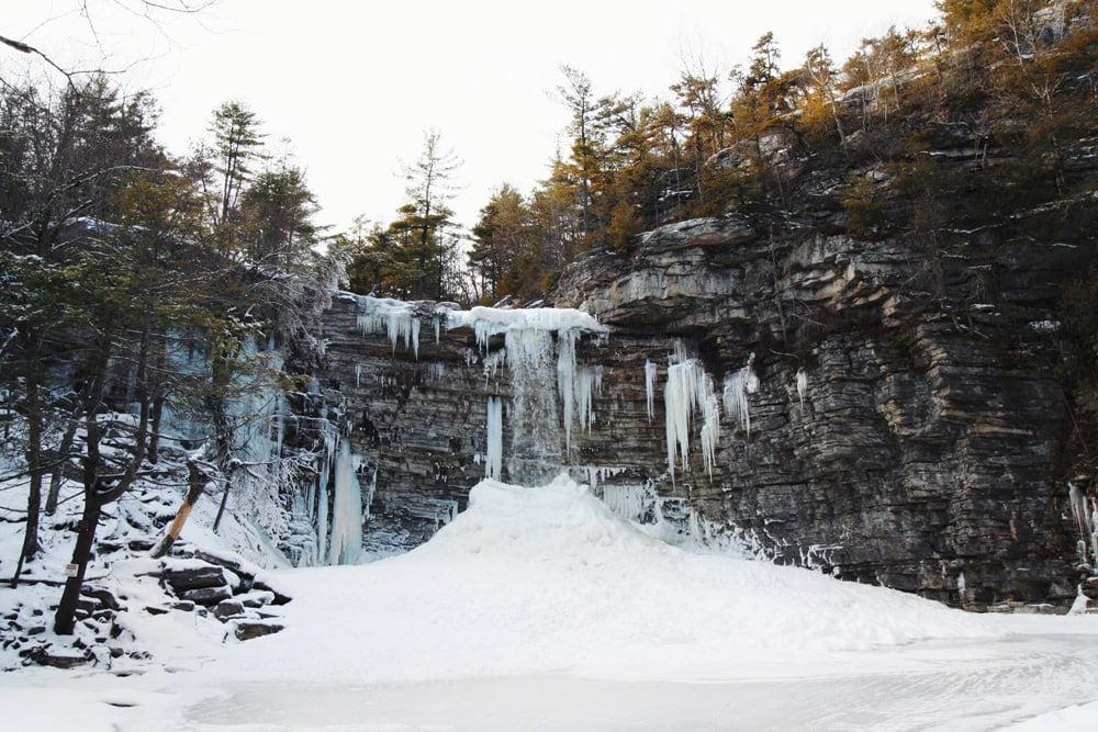 Awosting Falls Winter