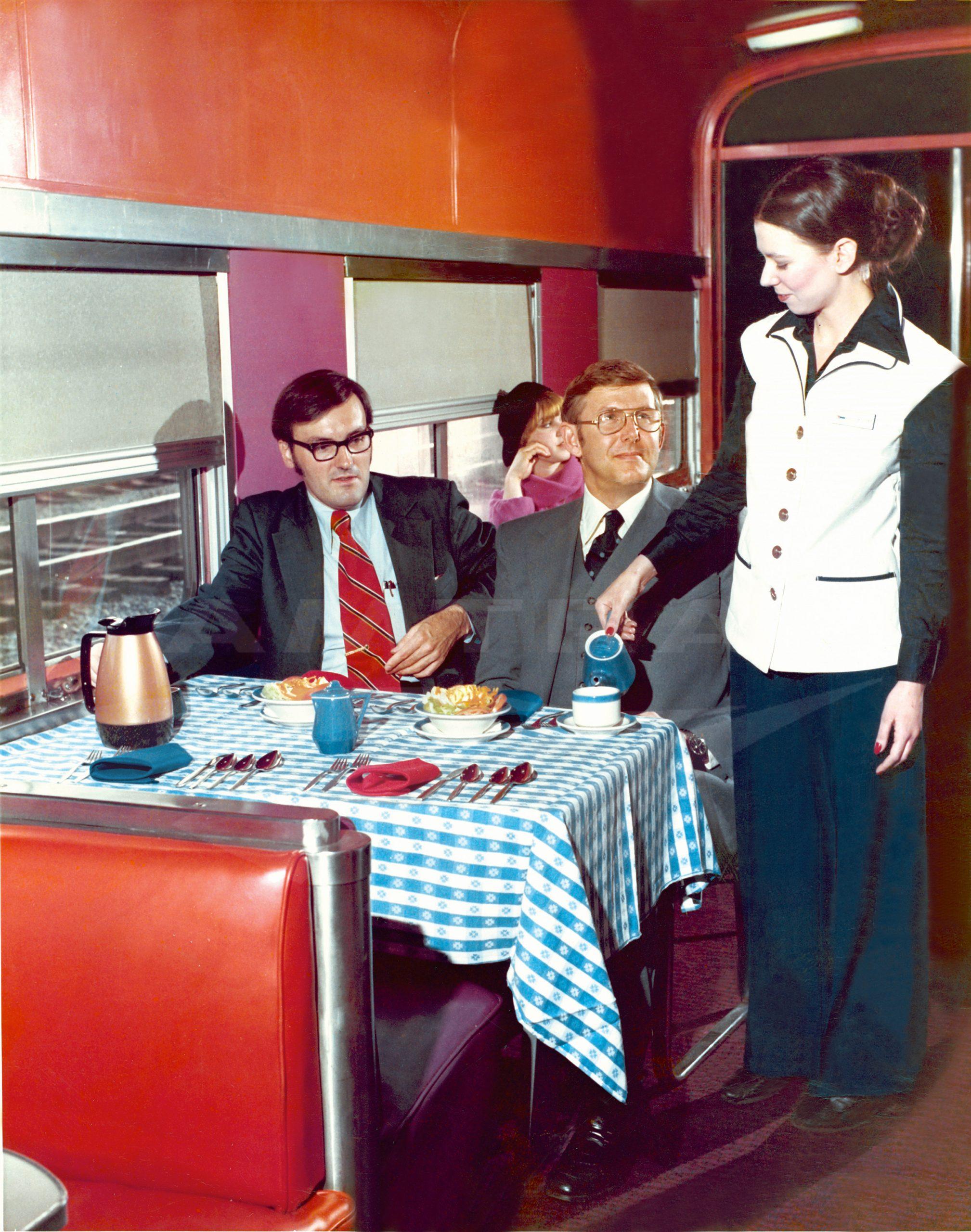 Amtrak 1976 interior